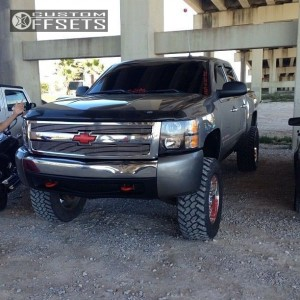 "2009 Chevrolet Silverado 1500 - 20x9.5 -22mm - Moto Metal MO961 - Suspension Lift 6"" - 35"" x 12.5"""