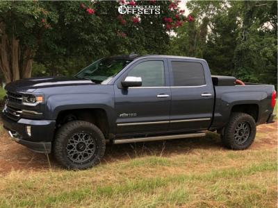 2018 Chevrolet Silverado 1500 - 20x9 10mm - Vision Rocker - Leveling Kit - 295/55R20