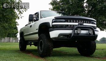 "2001 Chevrolet Silverado 1500 - 16x10 -38mm - Alloy Ion Style 174 - Suspension Lift 6"" - 35"" x 12.5"""