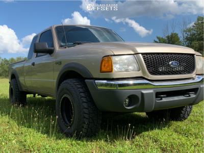 "2001 Ford Ranger - 15x10 -50mm - Method Double Standard - Stock Suspension - 32"" x 11.5"""