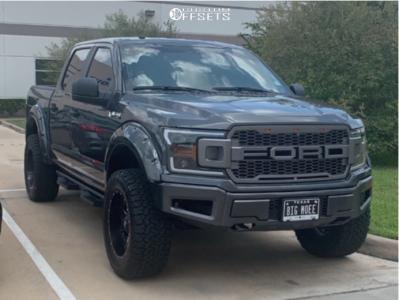 """2019 Ford F-150 - 20x10 -18mm - Fuel Maverick D610 - Suspension Lift 4.5"""" - 35"""" x 12.5"""""""