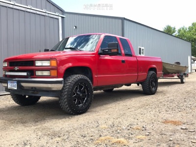 "1998 Chevrolet K1500 - 18x9 -12mm - Vision Arc - Level 2"" Drop Rear - 33"" x 12.5"""