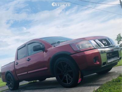 2015 Nissan Titan - 22x9.5 25mm - Status Brute - Lowered 2F / 4R - 305/45R22