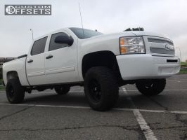 "2008 Chevrolet Silverado 1500 - 17x9 -12mm - Helo He791 - Suspension Lift 6"" - 285/75R17"