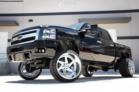 "2007 Chevrolet Silverado 1500 - 24x16 -101mm - American Force Jade Ss - Suspension Lift 6"" - 33"" x 14.5"""