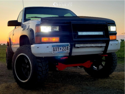 "1992 Chevrolet K1500 - 20x12 -51mm - Vision Cannibal - Suspension Lift 6"" - 35"" x 12.5"""