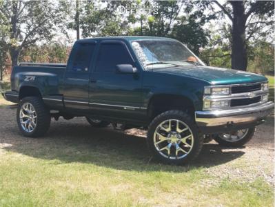 "1997 Chevrolet K1500 - 22x9 31mm - OE Replicas G04 - Suspension Lift 6"" - 33"" x 12.5"""