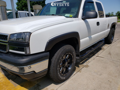 2006 Chevrolet Silverado 1500 HD - 17x9 -12mm - Alloy Ion Style 141 - Stock Suspension - 265/70R17