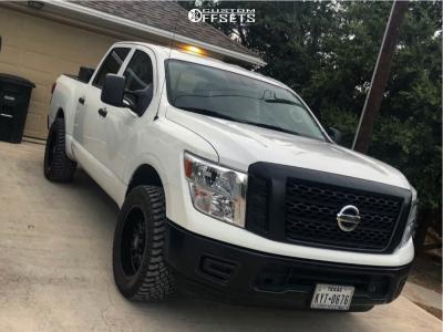 "2018 Nissan Titan - 20x9 -12mm - Panther Offroad 580 - Leveling Kit - 33"" x 12.5"""
