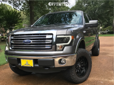"""2014 Ford F-150 - 20x10 -19mm - Fuel Sledge - Leveling Kit - 35"""" x 12.5"""""""