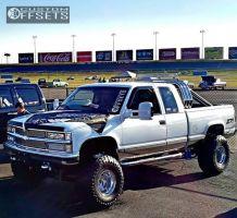 """1998 Chevrolet K1500 - 15x12 -73mm - Weld Racing T53 - Suspension Lift 6"""" - 35"""" x 13.5"""""""