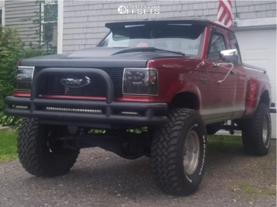 """1991 Ford Ranger - 15x10 -43mm - American Eagle Series 540 - Suspension Lift 8"""" - 33"""" x 12.5"""""""