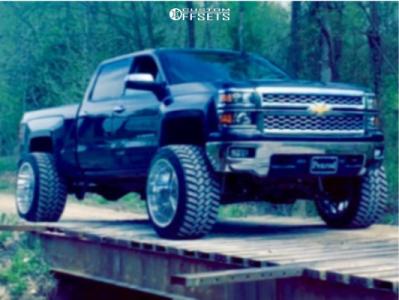 """2014 Chevrolet Silverado 1500 - 24x16 -101mm - American Force Aka Ss - Suspension Lift 9"""" - 375/40R24"""