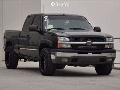 "2005 Chevrolet Silverado 1500 Classic - 18x10 -24mm - Moto Metal Mo962 - Leveling Kit - 33"" x 12.5"""