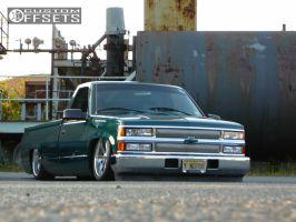 1998 Chevrolet C1500 - 20x8.5 12.7mm - Boyd Coddington Turbine - Air Suspension - 255/35R20