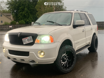 """2004 Lincoln Navigator - 20x12 -44mm - Monster Offroad M12 - Suspension Lift 3"""" - 33"""" x 12.5"""""""