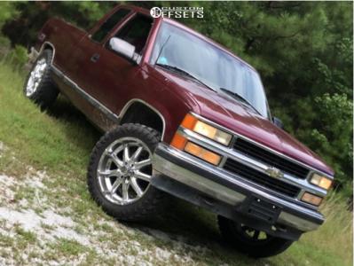 "1997 Chevrolet K1500 - 22x9.5 18mm - XD Badlands - Stock Suspension - 35"" x 12.5"""