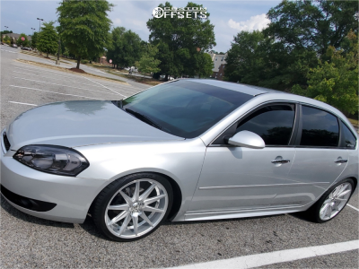 2012 Chevrolet Impala - 20x8.5 38mm - Rosso Legacy - Coilovers - 245/35R20