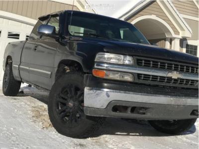2000 Chevrolet Silverado 1500 - 18x9 0mm - Mb Tko - Stock Suspension - 265/60R18