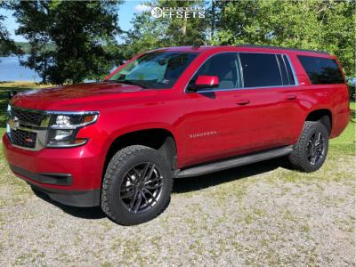 """2015 Chevrolet Suburban - 20x9 20mm - Niche Vosso - Suspension Lift 3.5"""" - 275/60R20"""