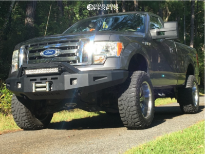 """2012 Ford F-150 - 20x10 -24mm - Mazzi Hulk - Suspension Lift 6"""" - 305/55R20"""