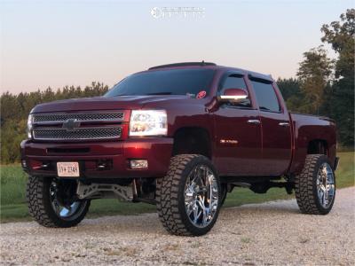 "2013 Chevrolet Silverado 1500 - 26x12 -44mm - Hardcore Offroad Hc05 - Suspension Lift 9"" - 37"" x 13.5"""