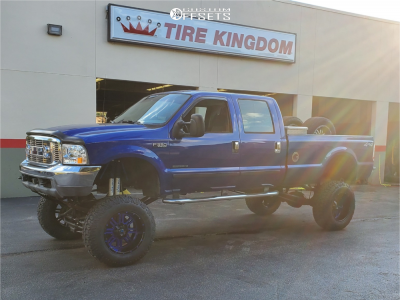 "2003 Ford F-350 Super Duty - 20x12 -44mm - American Offroad Renegade - Lifted >12"" - 37"" x 13.5"""