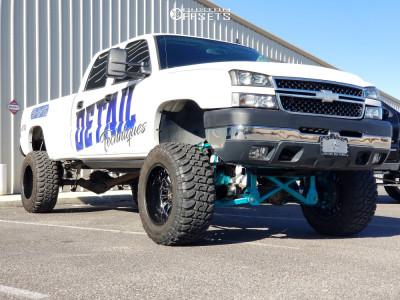 "2007 Chevrolet Silverado 2500 HD Classic - 20x12 -44mm - ARKON OFF-ROAD Alexander - Suspension Lift 10"" - 37"" x 13.5"""