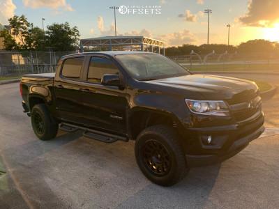 """2019 Chevrolet Colorado - 18x9 6mm - Fuel Vector - Suspension Lift 3"""" - 275/65R18"""