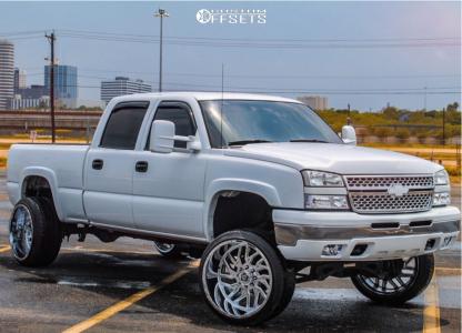 """2006 Chevrolet Silverado 1500 HD - 24x14 -76mm - TIS 544v - Suspension Lift 6"""" - 305/35R24"""