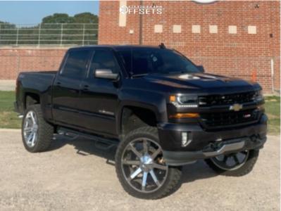 "2016 Chevrolet Silverado 1500 - 26x10 28mm - Kmc Slide - Suspension Lift 10"" - 37"" x 13.5"""