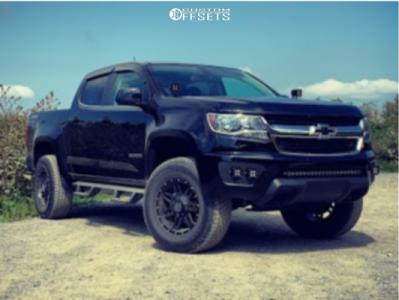 """2017 Chevrolet Colorado - 17x8.5 18mm - Raceline Injector - Suspension Lift 3.5"""" - 285/70R17"""