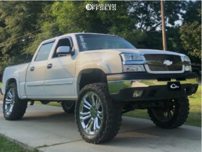 """2004 Chevrolet Silverado 1500 - 24x10 31mm - 4play Oe Wheels Ca04 - Suspension Lift 6"""" - 37"""" x 13.5"""""""