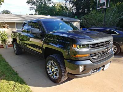 2018 Chevrolet Silverado 1500 - 20x10 -19mm - Hostile Alpha - Leveling Kit - 285/50R20