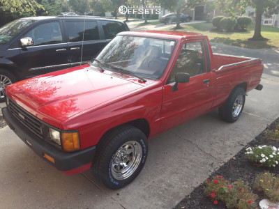 1986 Toyota Pickup - 15x7 -6mm - Cragar 315 - Stock Suspension - 215/65R15