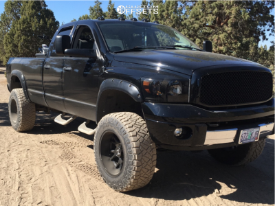 "2006 Dodge Ram 3500 - 20x12 -44mm - Hostile Rage - Suspension Lift 6"" - 37"" x 13.5"""