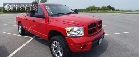 "2008 Dodge Ram 1500 - 20x9 31mm - Stock OEM - Leveling Kit - 32"" x 11.5"""