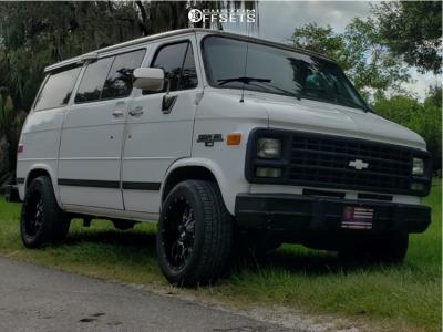 1995 Chevrolet G10 - 18x9 -12mm - Dropstars 645mb - Stock Suspension - 255/55R18