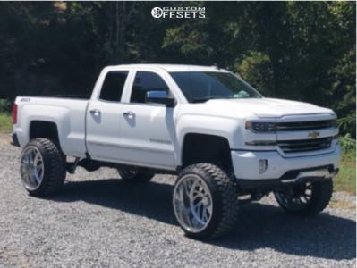 "2016 Chevrolet Silverado 1500 - 26x16 -103mm - Specialty Forged SF034 - Suspension Lift 9"" - 37"" x 13.5"""