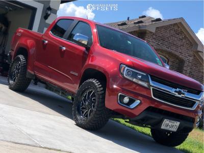 2015 Chevrolet Colorado - 20x9 0mm - Fuel Triton - Leveling Kit - 285/50R20