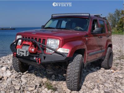 "2008 Jeep Liberty - 16x8 -12mm - Pro Comp Series 69 - Suspension Lift 4"" - 285/75R16"