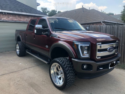 """2016 Ford F-250 Super Duty - 24x12 -40mm - American Force Nightmare Fp - Suspension Lift 6"""" - 35"""" x 13.5"""""""