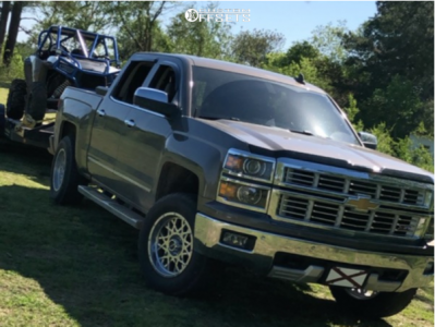 2015 Chevrolet Silverado 1500 - 18x9 -12mm - Vision Rocker - Leveling Kit - 275/65R18