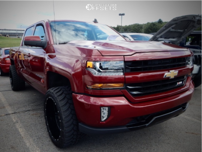 "2018 Chevrolet Silverado 1500 - 22x12 -50mm - Ballistic Rage - Suspension Lift 2.5"" - 33"" x 12.5"""