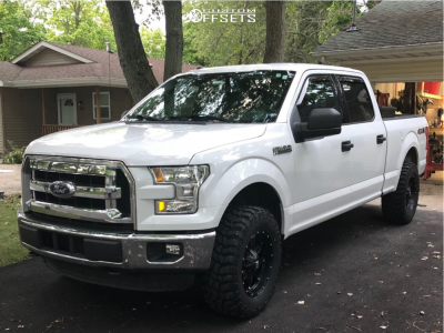 2016 Ford F-150 - 18x9 1mm - Fuel Hostage D531 - Leveling Kit - 285/65R18