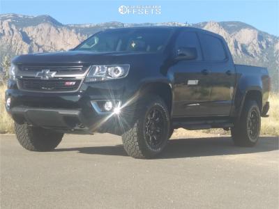2018 Chevrolet Colorado - 17x9 0mm - Black Rhino Sierra - Leveling Kit - 265/70R17