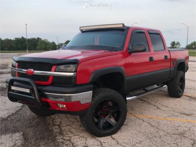 "2005 Chevrolet Silverado 1500 - 20x10 -25mm - Dropstars 648bb - Suspension Lift 4"" - 305/55R20"