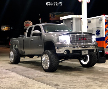 """2007 GMC Sierra 1500 - 22x14 -76mm - Specialty Forged Sf006 - Suspension Lift 9.5"""" - 325/50R22"""