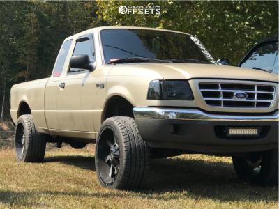 "2001 Ford Ranger - 20x10 -24mm - Karma Offroad K23 - Suspension Lift 4"" - 225/35R20"