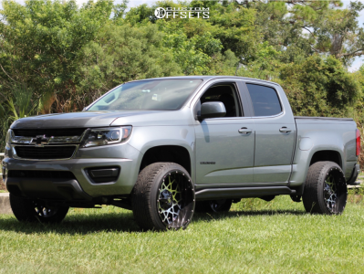 2018 Chevrolet Colorado - 22x12 -44mm - Off Road Monster M14 - Leveling Kit - 265/35R22